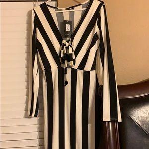Kicked Up Stripe Dress